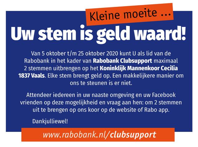 Advertentie Rabo ClubSupport 2020 (DE)