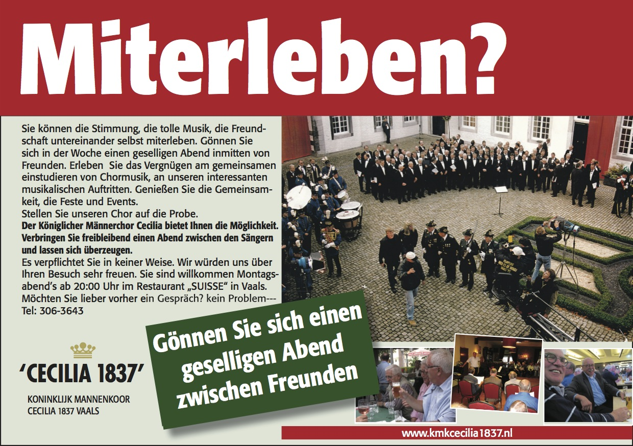 Advertentie Miterleben (DE)