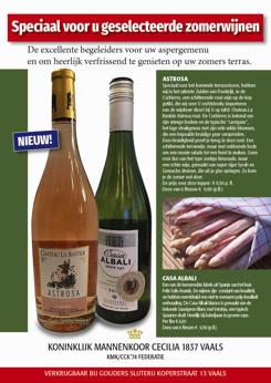 Advertentie 'Cecilia 1837'-wijn Zomer 2021 (DE)