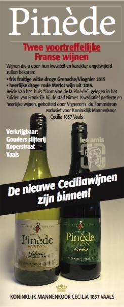 Advertentie 'Cecilia 1837'-wijn 2017