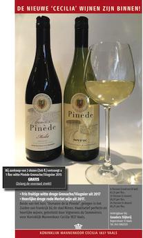 Advertentie 'Cecilia 1837'-wijn 2018